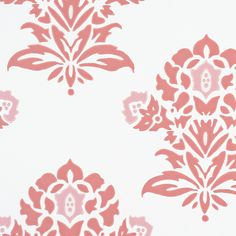 Jaipur Wallpaper - Weathered Coral | Serena & Lily