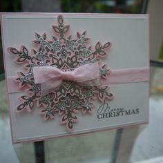 Image result for pink handmade christmas cards