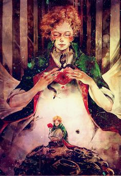 小王子 Le Petit Prince (The Little Prince) Redhead Art, Fox Illustration, The Little Prince, Kawaii, Beautiful Love, Cute Art, Illustrations Posters, Fairy Tales, Art Drawings