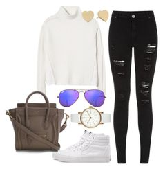 """""""Untitled #75"""" by maggiejanexo on Polyvore featuring Rebecca Taylor, Parisian, Ray-Ban, Vans, Kate Spade and Void"""