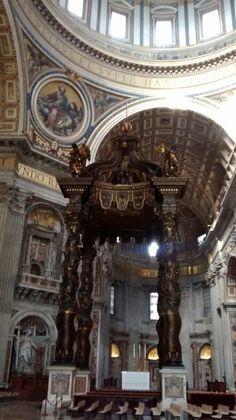 Baldaquino da Basílica de São Pedro/ Vaticano/ IT - 01/2016  Obra de Bernini