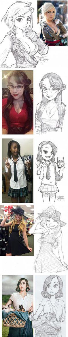 People And Their Cartoon Versions by banzchan @deviantart http://banzchan.deviantart.com:
