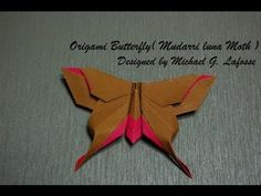 Origami Butterfly (Michael G. Lafosse) - How to fold an Origami Butterfly - YouTube