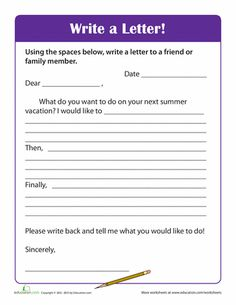 Printable Friendly Letter Format  Friendly Letter Template Sample