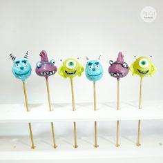 Monster AG Cake Pops Cake Pops, Monster Inc Cakes, Monsters Inc, Cute Cakes, Muffins, Comic, Handmade, Disney Cakes, Sweet Treats