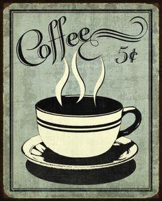 Retro Coffee I Pôsters por N. Harbick na AllPosters.com.br