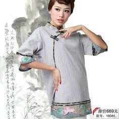 2013新款工艺品级唐装中式改良大襟盘扣女士夏装上衣