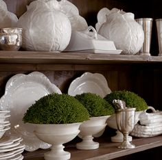 I love using white dishes to mix and match with colorful dishes or use them just own their own. Clean, simple, pretty.