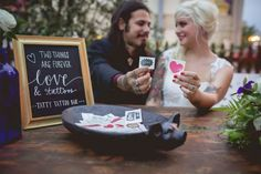 Fun wedding reception idea- temporary tattoo station with custom tattoos or other fun tattoos from Tattly! via 2018 Wedding Reception Trends Your Guests Will Love Wedding Games, Wedding Couples, Wedding Favors, Wedding Reception, Chic Wedding, Our Wedding, 2017 Wedding, Tattoo Station, Festival Themed Wedding