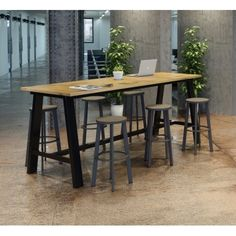 KFI seating Midtown 3 x 8 FT Multipurpose Table, Espresso Finish, Standard Height Bar Height Table, Urban Loft, Bistro Table, Table, Buy Table, Bar Dining Table, Multipurpose Table, Solid Wood Table Tops, Barnwood Table