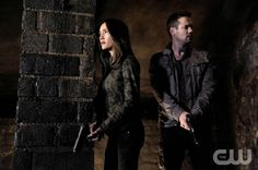 """Nikita -- """"Sideswipe"""" -- Pictured (L-R): Maggie Q as Nikita and Shane West as Michael -- Credit: Ben Mark Holzberg/The CW -- © 2012 The CW Network. All Rights Reserved."""