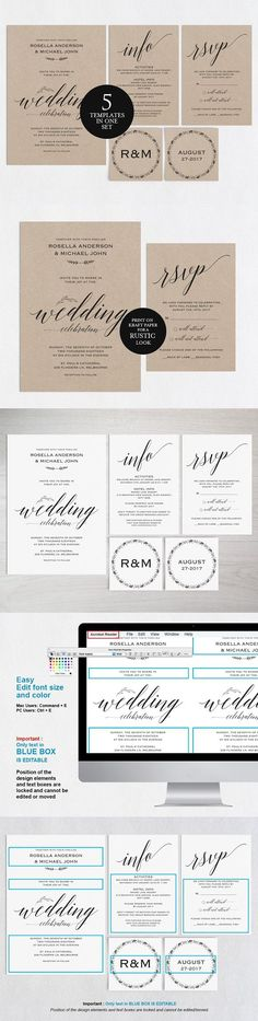 Wedding Menu Template Wpc 124 Invitation Templates