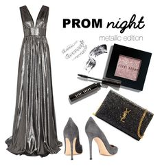 """Bobby's night"" by sophia-willmes ❤ liked on Polyvore featuring Bobbi Brown Cosmetics, Yves Saint Laurent and Gianvito Rossi"