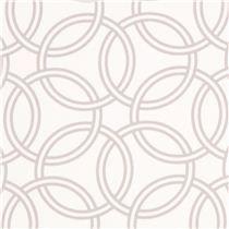 Tissu Michael Miller en satin de coton blanc,motif d'anneaux - Tissus à pois, rayés, à carreaux - Tissus
