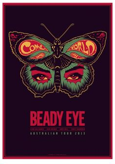 Beady Eye poster on The Loop Aaron Mackenzie Poster On, Poster Wall, Rock Band Posters, Concert Posters, Music Posters, Beady Eye, Music Flyer, Creative Jobs, Poster