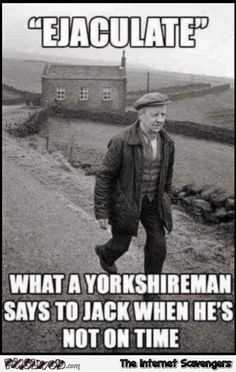 Yorkshire man says to Jack - Meme Collection Haha Funny, Funny Jokes, Funny Stuff, Funny Shit, Funny Humour, Odd Stuff, Funny Signs, Yorkshire Sayings, Yorkshire Slang
