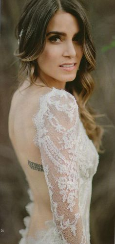 "Nikki Reed Beautiful Wedding Picture from Hello Magazine ""wedding hair inspo"""
