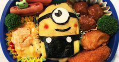 ミニオンのオムライス☆ Sushi For Kids, Bento Kids, Food Art For Kids, Bento Recipes, Lunch Box Recipes, Baby Food Recipes, Vegan Meal Prep, Vegan Thanksgiving, Vegan Kitchen