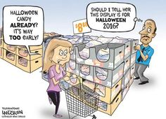 In retail, you have to plan ahead #Halloween