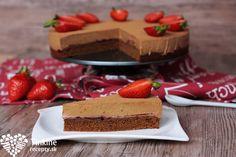Brownie s čokoládovou aha penou