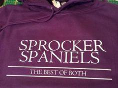 """Sprocker Spaniels... The Best Of Both"""