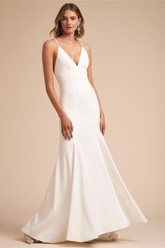 BHLDN Estelle Gown Ivory  in  Bride   BHLDN ... i like the simplicity and the plunging back