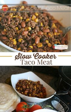 Easy Crockpot Taco Meat | Slow Cooker Taco Meat | Crockpot Taco Meat is easy to make in your slow cooker! Make up a large batch for the week. TodaysCreativeLife.com