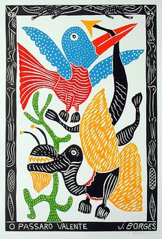 Indigo Arts Gallery | Brazilian Folk Art | Jose Francisco Borges Brazilian themed folk art prints