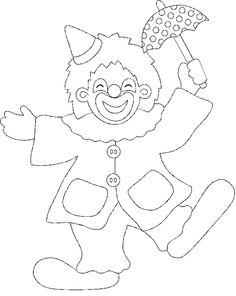 PALLASSO b-n - Petitmón Recursos - Picasa Webalbumok Applique Templates, Applique Patterns, Free Coloring Pages, Coloring Sheets, Clown Cirque, Clowns, Clown Crafts, Cross Stitch For Kids, Alphabet For Kids
