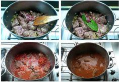 μοσχαρι κοκκινιστό Iron Pan, Beef, Kitchen, Food, Meat, Recipes, Cooking, Kitchens, Essen