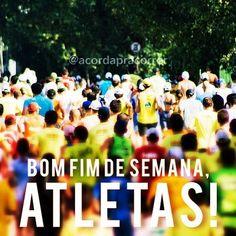 E chegou o fim de semana! Por aqui eu vou correr a meia maratona da cidade de São Paulo amanhã! To ansioso para a prova! E você? Vai de treino ou de prova? Um excelente fim de semana a todos!! #acordapracorrer