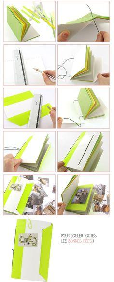 diy-carnet coloré avec rabat