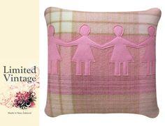 NZ wool blanket cushion