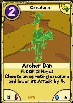 Adventure Time Card Wars - Archer Dan Corn Lands card