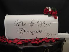Personalized Mailbox Wedding Card Box Holder by SouthburyTreasures, $50.00