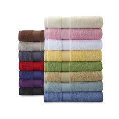 Cannon Bleach Friendly Cotton Bath Towels Hand Towels or Washcloths, Blackest Black