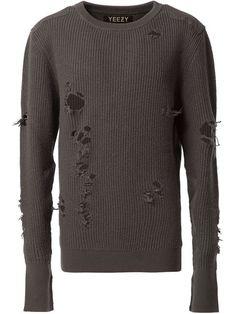 Купить Yeezy трикотажный свитер с дырявыми деталями в The Webster from the…