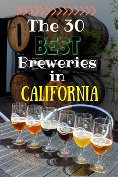 A tour of the 30 best California breweries to visit, from San Diego to Eureka. A craft beer journey and road trip through the Golden State! California Vacation, California Dreamin', Northern California, Golden State, California Breweries, San Diego Travel, Beer Tasting, Travel Usa, Travel Tips
