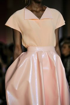 Fashion Trends- Patent leather or vinyl skirts in pastel shades