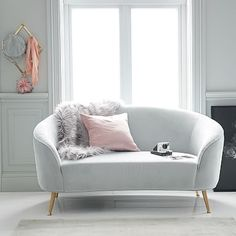 Love your lounge! Arrange and rearrange the pieces for lounge seating with unique right an… Small Couch In Bedroom, Grey Bedroom Furniture, Bedroom Sofa, Small Sofa, Room Ideas Bedroom, Lounge Furniture, Living Room Furniture, Living Room Decor, Bedroom Decor