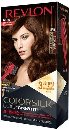 Revlon Colorsilk 535 Medium Golden Mahogany Brown