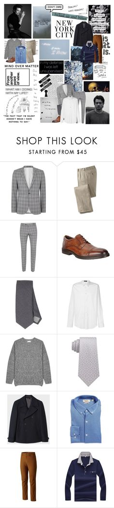 """""""i got news for you baby, you're looking at the man {RR}"""" by monkeymanda22 ❤ liked on Polyvore featuring Topman, Olsen, ECCO, Eleventy, Versace, Saturdays, Calvin Klein, Paul Smith, Penguin and Mountain Hardwear"""
