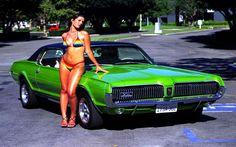 1967 Mercury Cougar bikini | Messenger Puppet