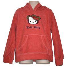 Hello Kitty Girls Microfleece Hoodie Hooded Top Pink Size 3 - 4 Hoods, Hello Kitty, Graphic Sweatshirt, Sweatshirts, Girls, Sweaters, Pink, Fashion, Moda