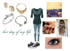 """""""Best Day of My Life by American Arthors"""" by themortalinstrumentslover ❤ liked on Polyvore featuring moda, LOVMELY, Converse, Kate Spade, Oscar de la Renta, Sweet Romance, women's clothing, women, female y woman"""