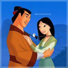Day 9 - Favorite Couple - Mulan and Shang Walt Disney, Disney Amor, Disney Couples, Disney Love, Disney Magic, Pocahontas, Mulan 3, Disney And Dreamworks, Disney Pixar