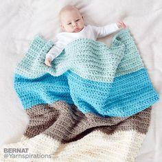 Colorblock Crochet Blanket, Crochet Pattern | Yarnspirations - http://www.yarnspirations.com/patterns/bernat-colorblock-crochet-blanket.html