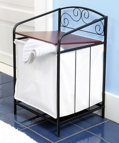 Look at this #zulilyfind! Metal Scroll Laundry Hamper by Etna Products #zulilyfinds