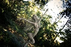 Dancing and flying wire fairies, metal art, Wire fairy sculpture. Breathtaking one of a kind stainless steel wire fairy sculpture. Fantasy Wire, Wire Sculptures, Stainless Steel Wire, Wire Art, Heron, Faeries, Metal Art, Bald Eagle, Herons