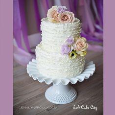 Salt Cake City (www.SaltCakeCity.com) all rustic ruffled mini wedding cake Mini Wedding Cakes, Marshmallow Fondant, Birthday Cakes, Cake Ideas, Getting Married, Bridal Shower, Salt, Rustic